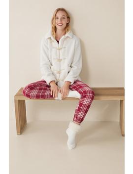 Short Teddy Fur Robe by Women'secret