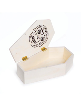 "Darice® Plywood Coffin With Sugar Skull, 4"" X 7"" by Darice"