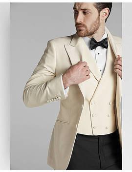 Joseph Abboud Collection Cream White Silk Slim Fit Formal Sport Coat by Joseph Abboud