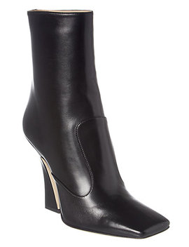 Fendi Square Toe Leather Boot by Fendi
