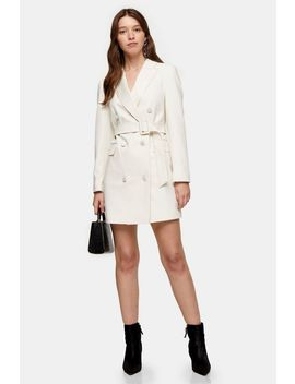 Ivory Tuxedo Blazer Dress by Topshop