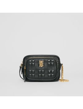 Small Quilted Lambskin Camera Bag by Burberry