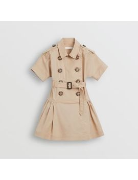 Stretch Cotton Trench Dress by Burberry