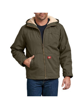 Duck Sherpa Lined Hooded Jacket   Big & Tall by Dickies