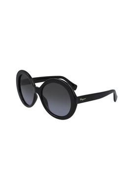 57mm Oversize Round Sunglasses by Salvatore Ferragamo