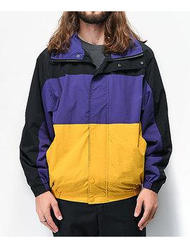 Deathworld Romulus Black, Purple & Yellow Colorblock Windbreaker Jacket by Deathworld