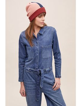 Selected Femme Victoria Wide Leg Denim Jumpsuit by Selected Femme