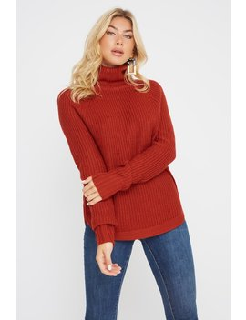 Turtleneck Crochet Sweater by Urban Planet