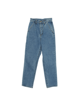 High Waist Darted Straight Jeans by Stylenanda