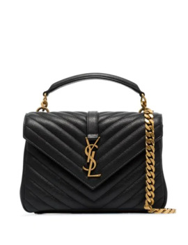 Medium College Quilted Leather Shoulder Bag by Saint Laurent