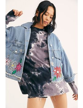 Flower Fling Denim Jacket by Wren + Glory