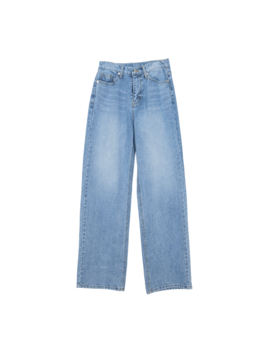 Whisker Wash Loose Straight Jeans by Stylenanda