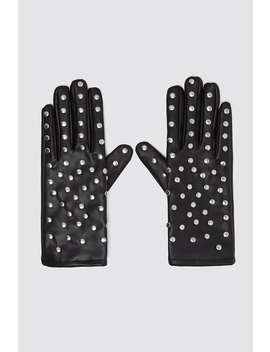 Studded Faux Leather Gloves by Zara