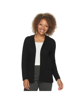 Petite Croft & Barrow® Essential Open Front Cardigan by Petite Croft & Barrow