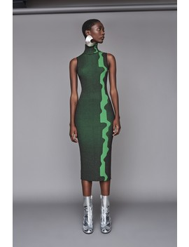 Lowri Dress Aubergine/Green by Solace London