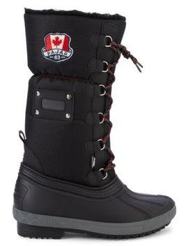 Jassi Faux Fur Trim Waterproof Boots by Pajar Canada