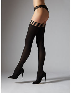 Plain Top Hold Ups 40 Denier by Bouxavenue