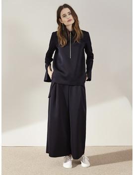 Nanushka Satin 'o' Ring Zip Shirt   Black by Garmentory