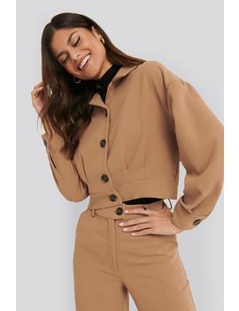 Short Gathered Jacket Beige by Nakdclassic