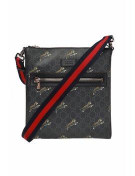 Tiger Motif Shoulder Bag by Gucci