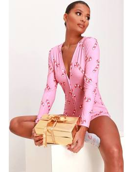 Pink Candy Stripe Print Romper by I Saw It First