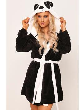 Black Novelty Panda Dressing Gown by I Saw It First