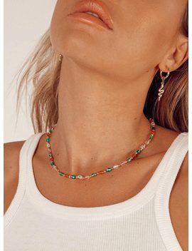 Lia Beaded Necklace by Princess Polly
