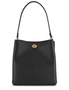 Charlie Black Leather Bucket Bag by Coach