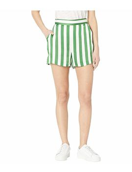 Awning Stripe Satin Shorts by Juicy Couture