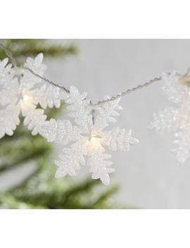 Glitter Snowflake String Lights by Pottery Barn