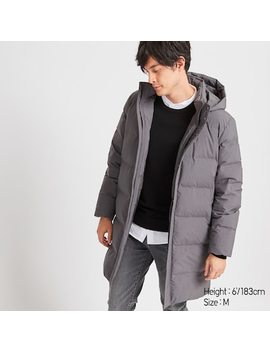 Men Seamless Down Hooded Coat (3) by Uniqlo