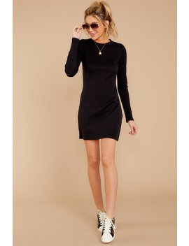 The Black Thermal Long Sleeve Dress by Z Supply