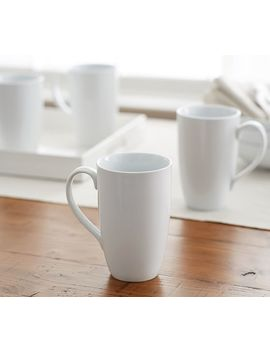 Great White Porcelain Latte Mug by Pottery Barn