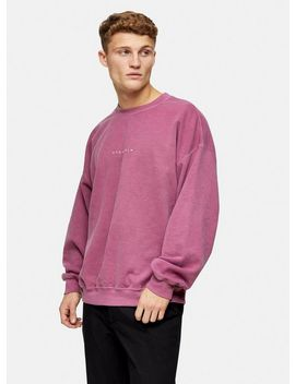 Burgundy Stockholm Print Sweatshirt by Topman