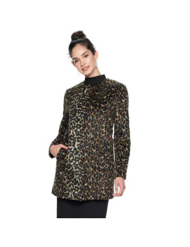 Women's Nine West Midweight Wool Blend Coat by Nine West