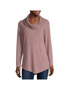 Alyx Womens Cowl Neck Long Sleeve Knit Blouse by Alyx