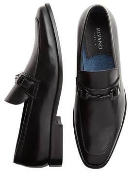 Mivano Hyde Black Apron Toe Loafers by Mivano