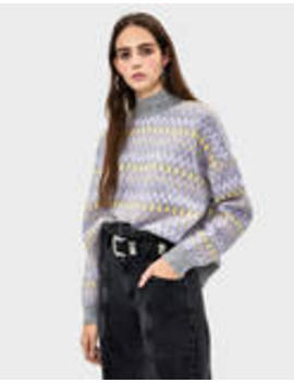 Printed Jacquard Sweater by Bershka