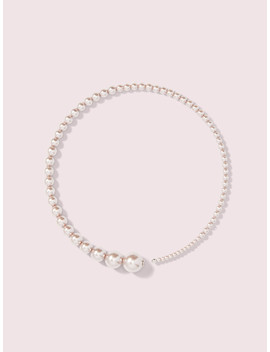 Modern Pearls Collar Necklace by Kate Spade