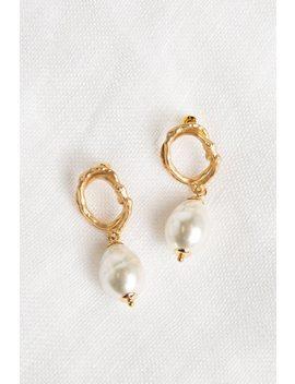 Front Row Pearl Drop Earrings by Dissh