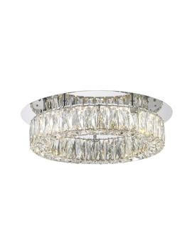 Crystal 100 Watt Polished Chrome Integrated Led Semi Flush Mount by Home Decorators Collection