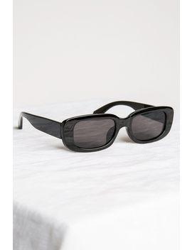 Chic Black Rectangle Sunglasses by Dissh