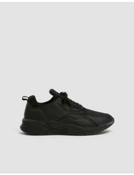 Basic Black Monochrome Trainers by Pull & Bear