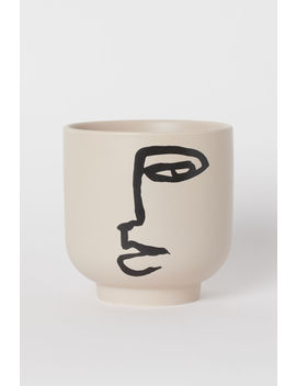 Plant Pot With Graphic Design by H&M