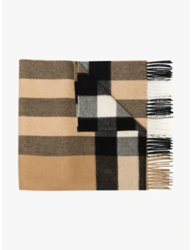 Brown Mega Check Cashmere Scarf by Burberry
