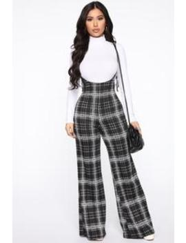 Can't Ignore You Pant   Black/White by Fashion Nova