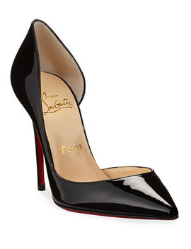 Christian Louboutin Iriza Patent Open Side Red Sole Pump by Christian Louboutin
