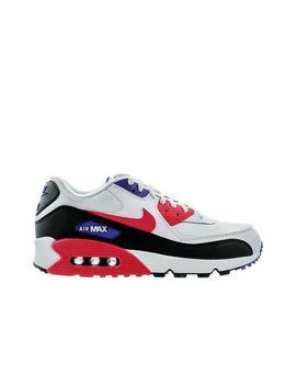 "Nike Air Max 90 Essential ""White/Red Orbit/Psychic Purple/Black"" Men's Shoe Nike Air Max 90 Essential ""White/Red Orbit/Psychic Purple/Black"" Men's Shoe by Hibbett"