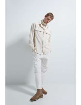 Non Iron Corduroy Overshirt by Zara