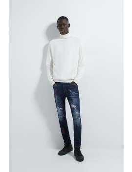 Skinny Text Jeans by Zara